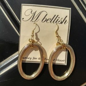 MBellish Gold Wire Hoop Earrings